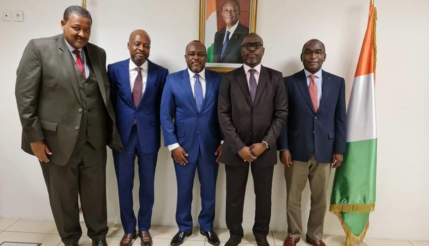 Le Directeur Général de l'ARPCE Congo, Louis-Marc SAKALA, en visite de travail en Côte d'Ivoire